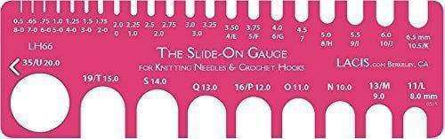 Lacis Knit & Crochet Gauge 8-0 To 35 Slide-On - A Plus Craft