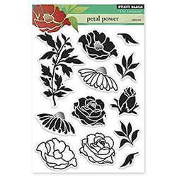 Penny Black Clear Stamps Petal Power - A Plus Craft