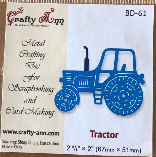 Crafty Ann - Dies - BD-61 Tractor - A Plus Craft