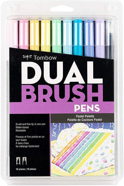Tombow Dual Brush Pens - 10 Pack----Pastel