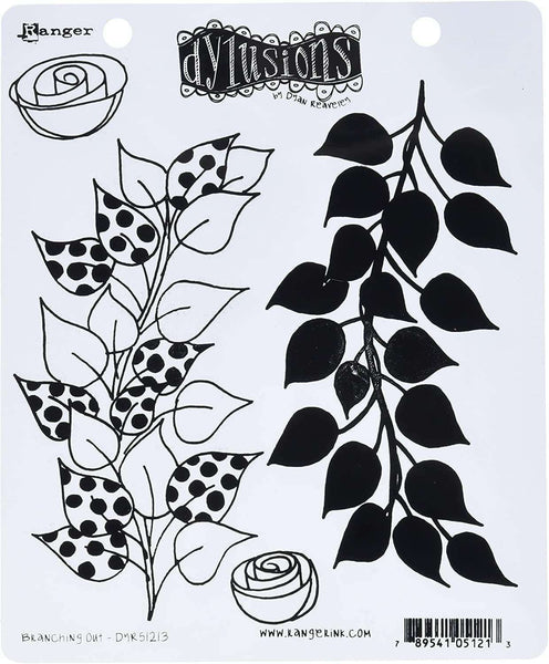 Ranger DYR51213 Branching Out Dyan Reaveley's Dylusions Cling Stamp Collections, 8.5-Inches by 7-Inches - A Plus Craft