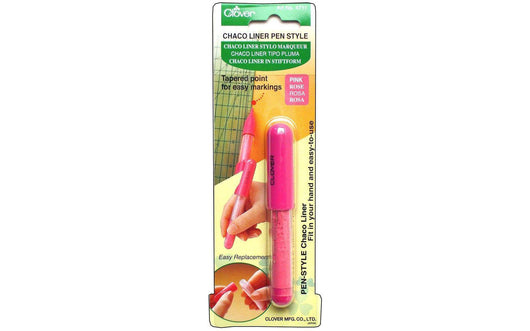 Clover Chaco Liner Pen Style Pink - A Plus Craft