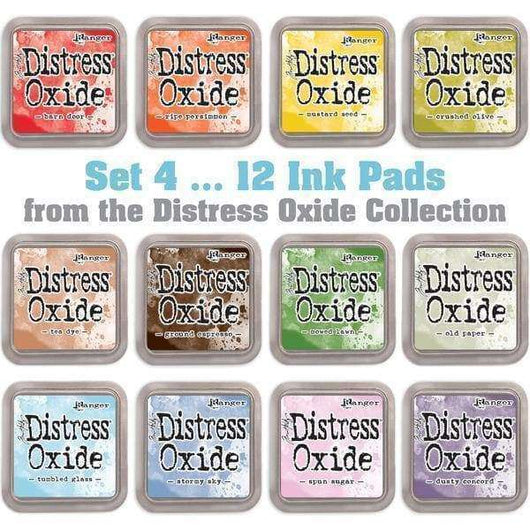 Tim Holtz Distress Oxides Ink Pads 12 pads Set 4 - A Plus Craft