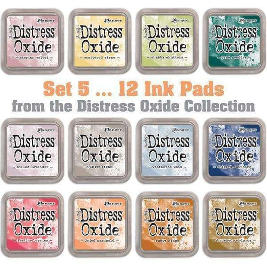 Tim Holtz Distress Oxides Ink Pads 12 pads Set 5 - A Plus Craft