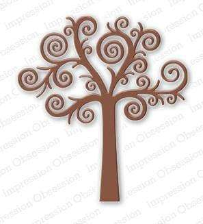 Impression Obsession dies Swirl Tree - A Plus Craft