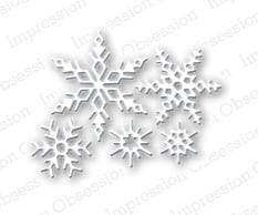Impression Obsession dies Small Snowflake Set - A Plus Craft