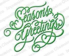 Impression Obsession dies Season's Greetings - A Plus Craft