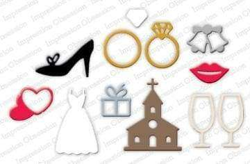 Impression Obsession dies Wedding Icons - A Plus Craft