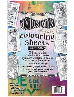 Dylusions - Colouring Sheets #2 - A Plus Craft