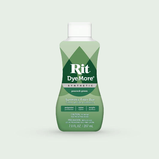 Rit Dye More Synthetic (207ml) 7oz - Peacock Green - A Plus Craft