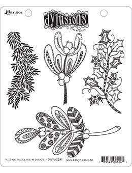 Dyan Reaveley's Dylusions Cling Stamp Collections KISS ME UNDER THE MISTLETOE - A Plus Craft