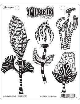 Dyan Reaveley's Dylusions Cling Stamp GLORIOUS BLOOMS - A Plus Craft