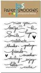 Paper Smooches stamps Scripty Sayings - A Plus Craft