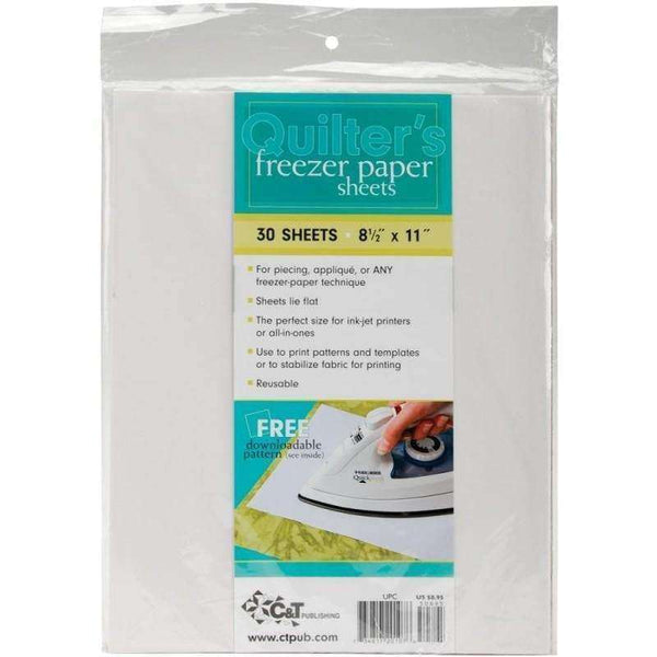 Quilter's Freezer Paper Sheets - A Plus Craft