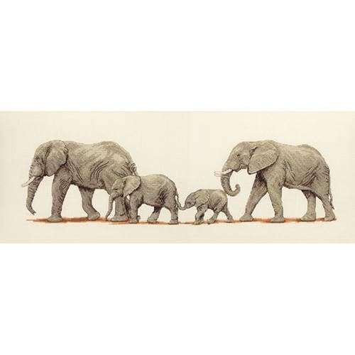 Anchor Essential Kits: Cross Stitch – Elephant Stroll - A Plus Craft