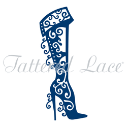 Tattered lace Christmas Boot die - A Plus Craft