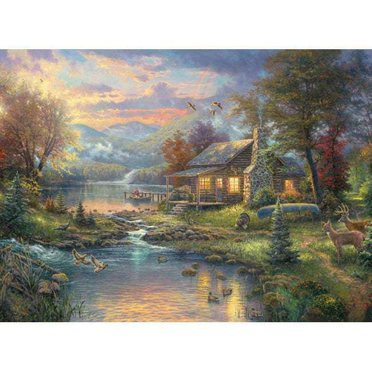 Thomas Kinkade Nature's Paradise Counted Cross Stitch Kit 16
