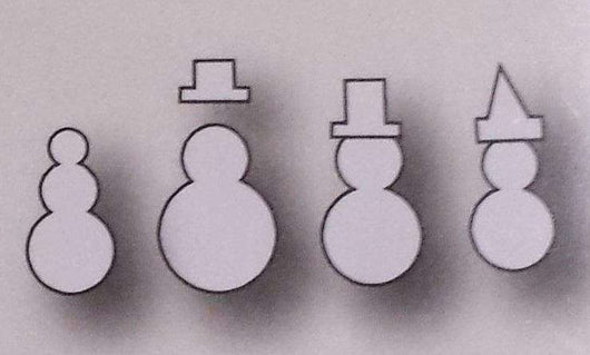 Memory Box 100% Steel Craft Die Mini Snowmen - A Plus Craft