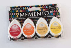 Memento Dew Drop Dye Ink Pads 4/Pkg Camp Fire - A Plus Craft