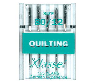 KLASSE - QUILTING 80/12 MACHINE NEEDLES - A Plus Craft