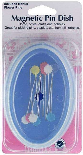 Magnetic Pin Dish with Flower Pins by Hemline - A Plus Craft