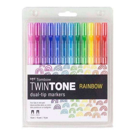 Tombow Twintone Marker Set 12/Pkg Rainbow - A Plus Craft
