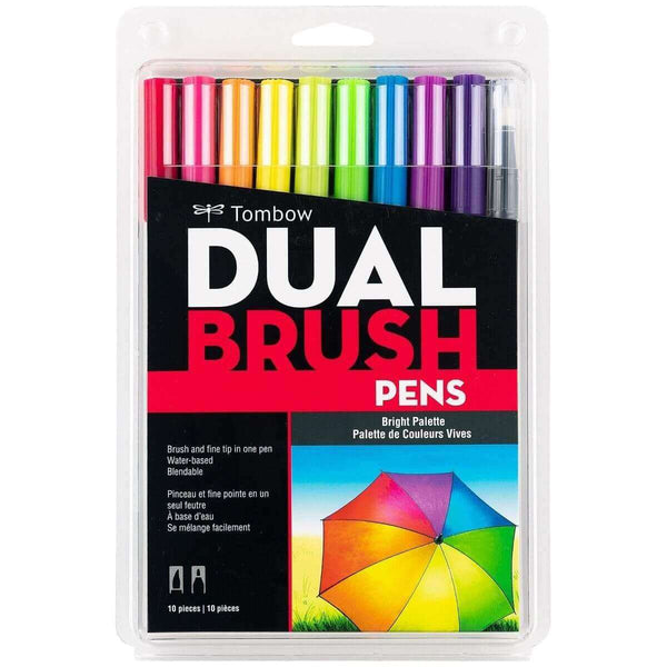 Tombow Dual Brush Pens - 10 Pack - A Plus Craft