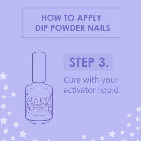 cure dip nails at home with activator