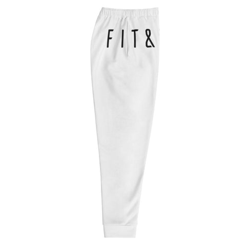 White Statement Joggers