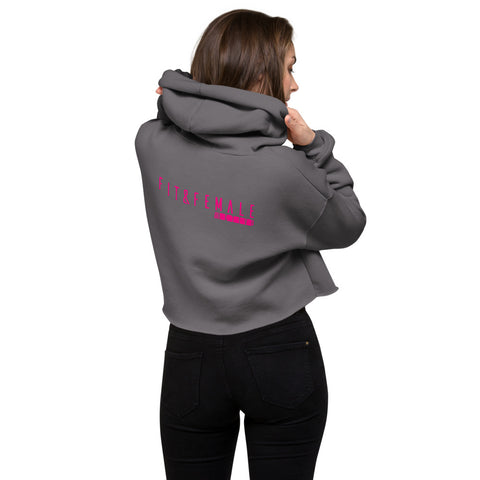 Three Feels Crop Hoodie