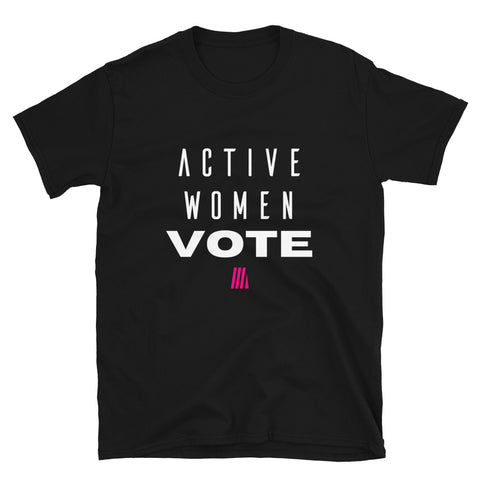Active Women VOTE Tee- Black