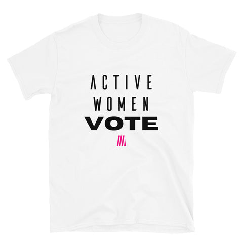 Active Women VOTE Tee- White