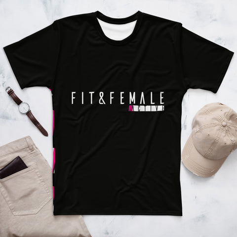 Fit and Female Black Oversize Tee-shirt