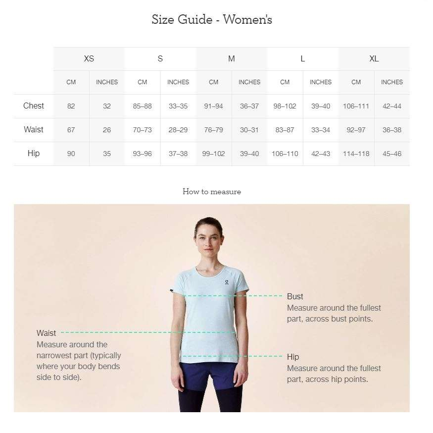 On_Running_Womens_Top_Sizing_Chart