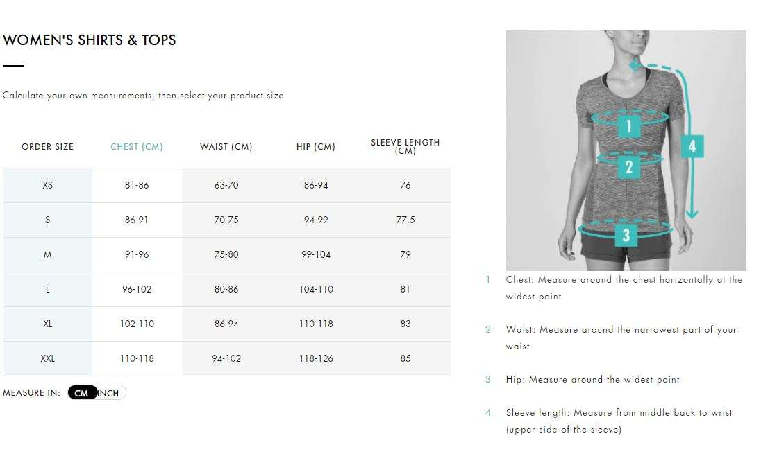 Salomon_Womens_Tops_Sizing_Chart