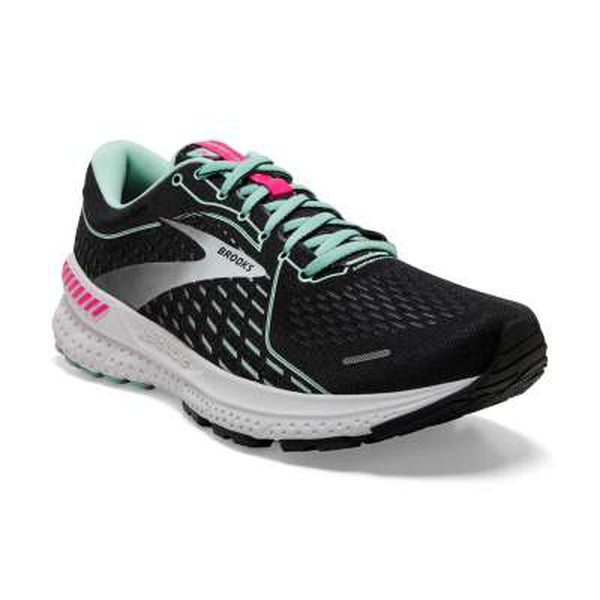 Brooks Womens Shoe Adrenaline GTS 21_Black_Pink_Yukka