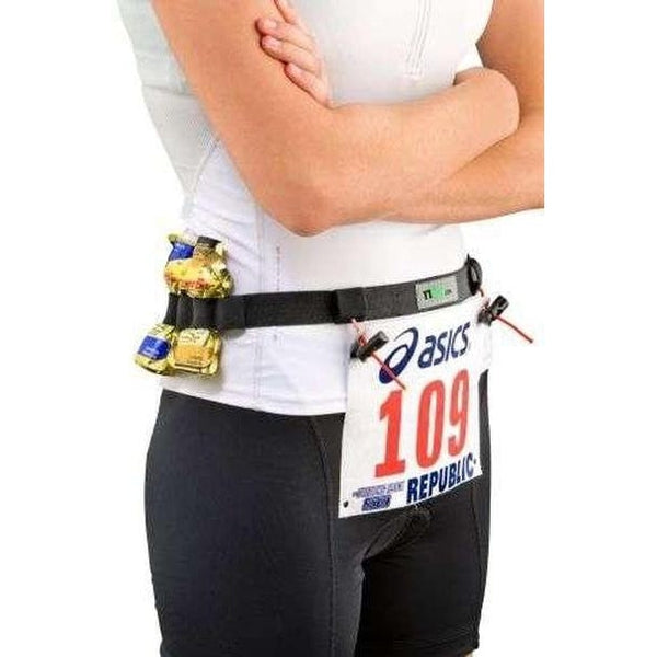 2XU Nutrition Racebelt - Black-Blue Mountains Running Company