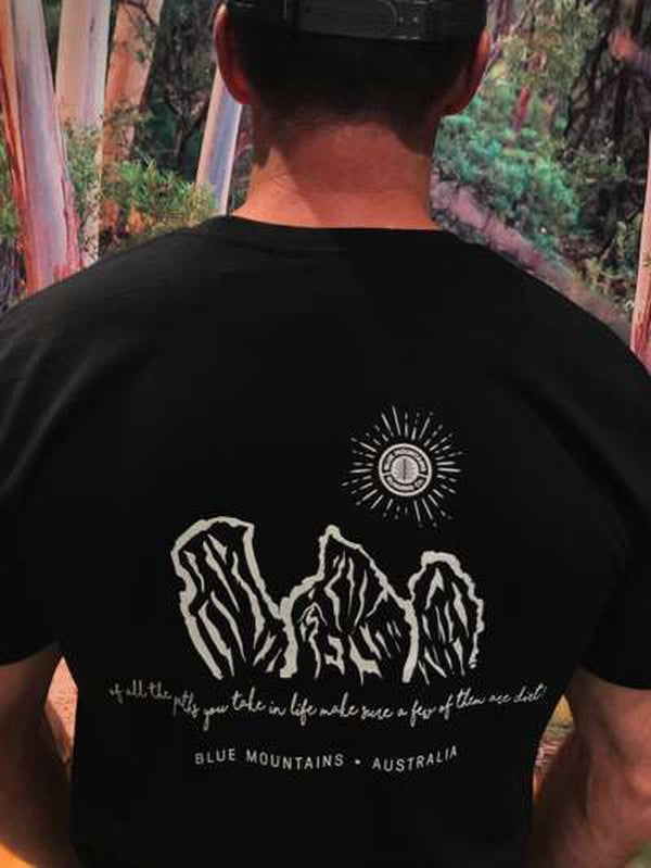 AS Colour BMRC Organic Tee - Black-Blue Mountains Running Company