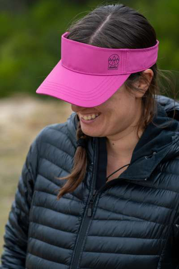 Dusty Trails Visor Tickled Pink-Blue Mountains Running Company