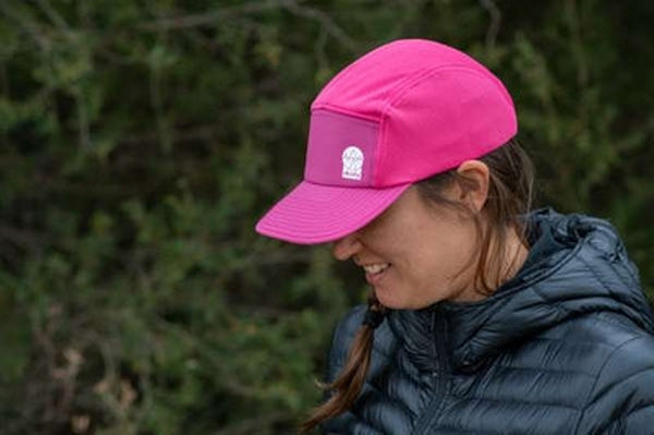 Dusty Trails Flat Cap Tickled Pink-Blue Mountains Running Company