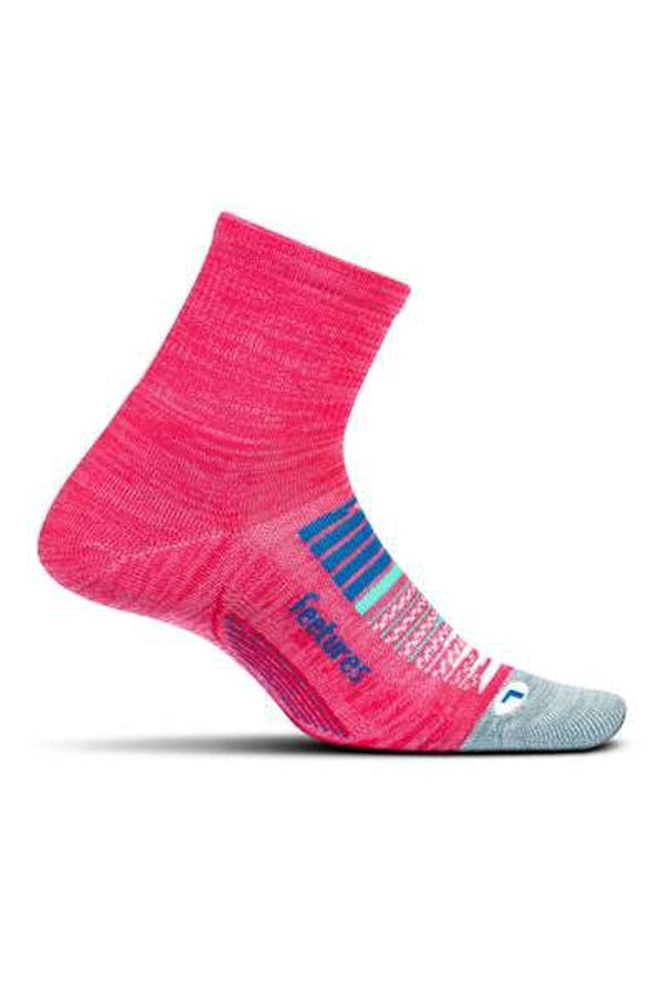 Feetures Socks Ultra Light Cushion Quarter-Blue Mountains Running Company
