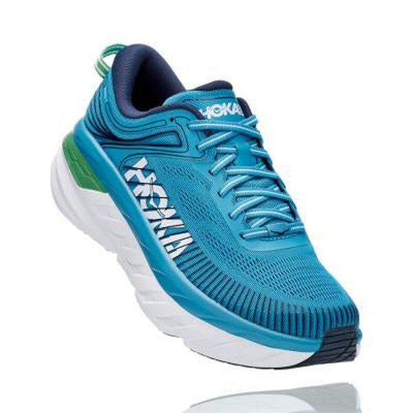 Hoka One One Mens Shoe Bondi 7-Blue Mountains Running Company