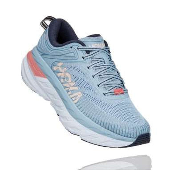 Hoka One One Womens Shoe Bondi 7 Blue Fog Ombre Blue