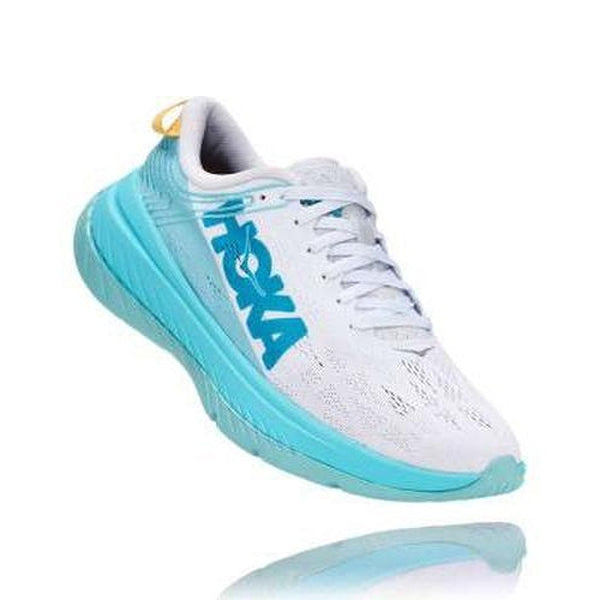 Hoka One One Womens Shoe Carbon X White Angel Blue