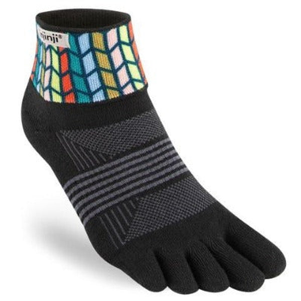 Injinji Womens Trail Sock - Mini Crew length-Chevron