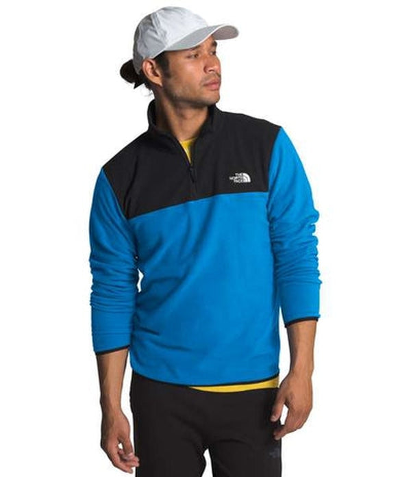 The North Face Mens TKA 100 Glacier 1/4 Zip-Blue Mountains Running Company