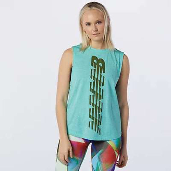New Balance Womens Relentless Cinch Tank Jade