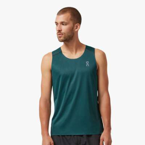 On Running Mens Tank-T-Blue Mountains Running Company