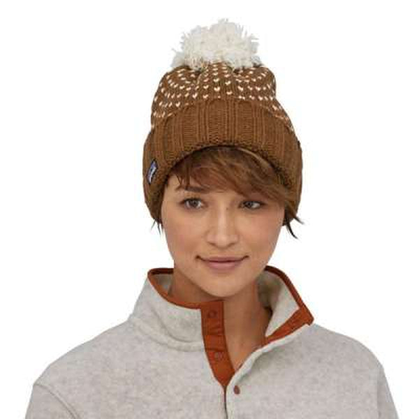 Patagonia Womens Snowbelle Beanie Wood Brown