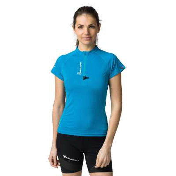 Raidlight Womens Active Zip Tee-Blue Mountains Running Company